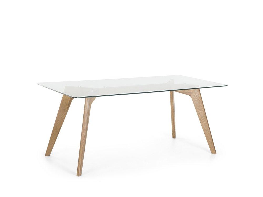 Jídelní stůl - Hudam (pro 8 osob) (průhledná)