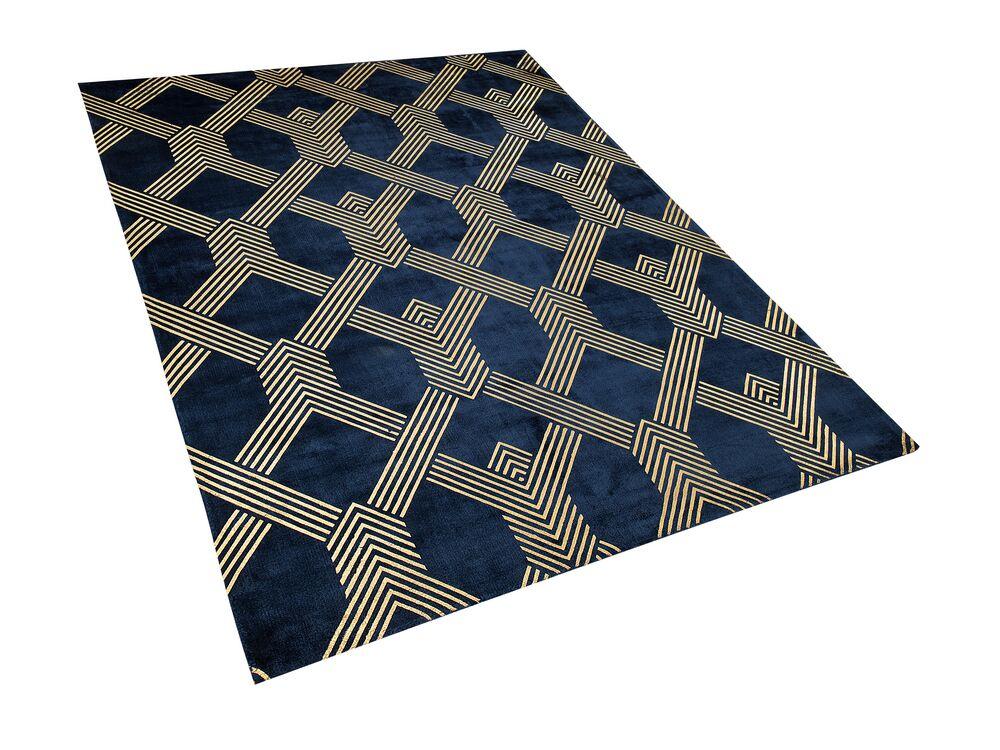 Koberec 160x230 cm - VESKE (látka) (modrá)