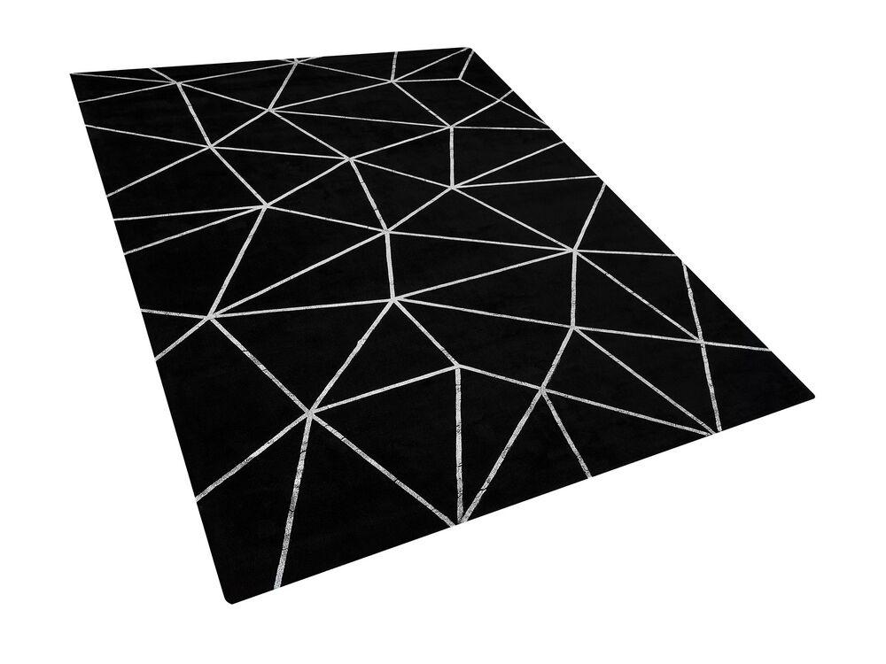 Koberec 160x230 cm - HAZVE (látka) (černá)