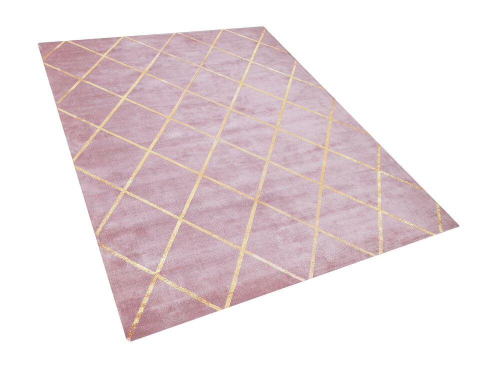 Koberec 160x230 cm - ATEKO (látka) (růžová)