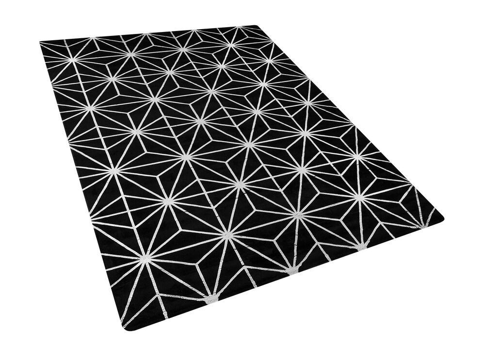 Koberec 160x230 cm - SILBE (látka) (černá)