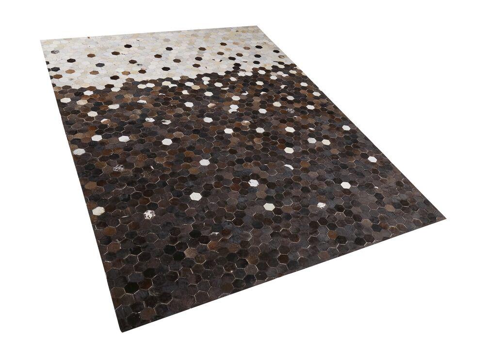 Koberec 160x230 cm - EMIO (kůže) (béžová)