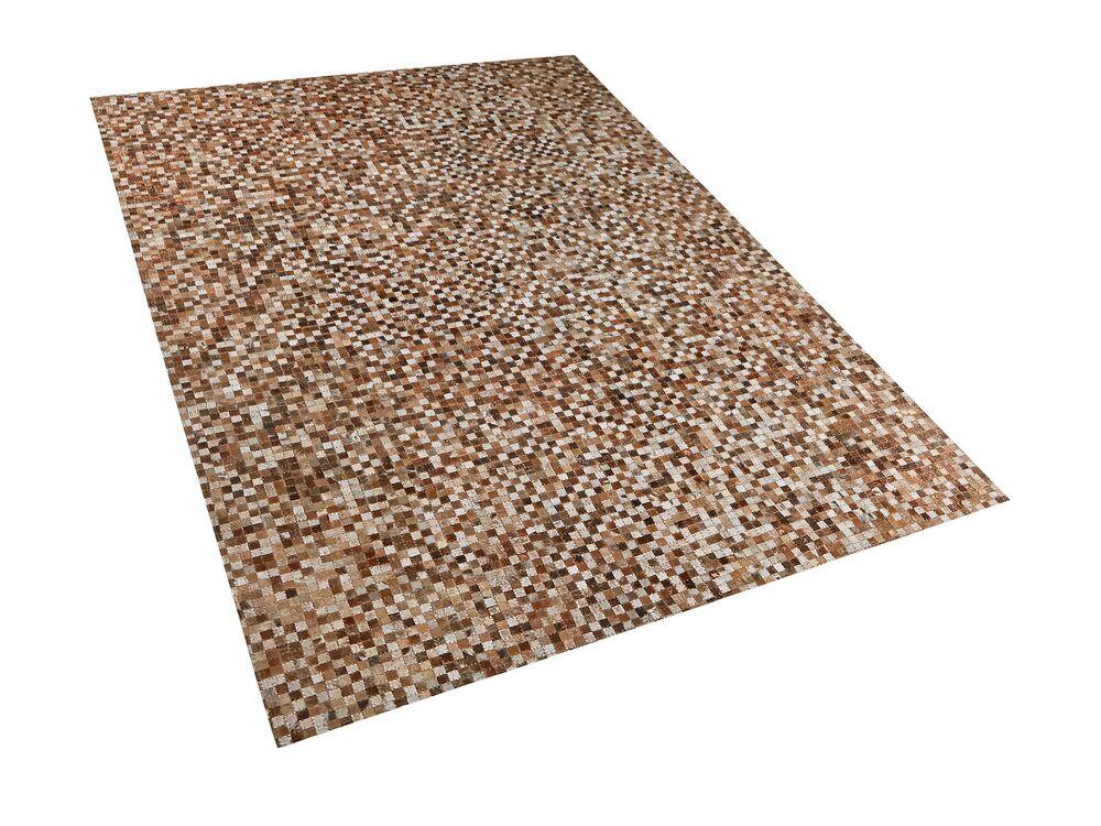 Koberec 160x230 cm - TULRO (kůže) (hnědá)