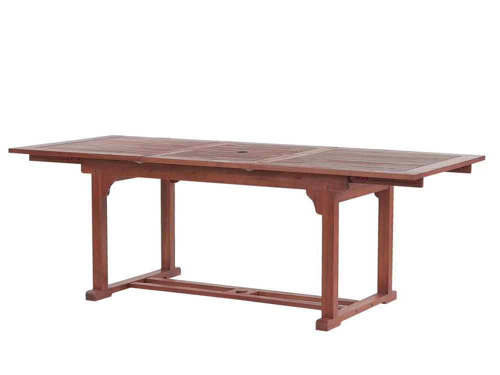 Rozkládací zahradní stůl - TRATORIA (tmavě červená) (pro 6 až 8 osob)