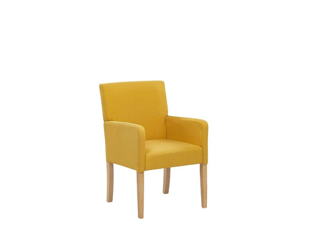 Jídelní židle - ROCKY (textil) (žlutá)