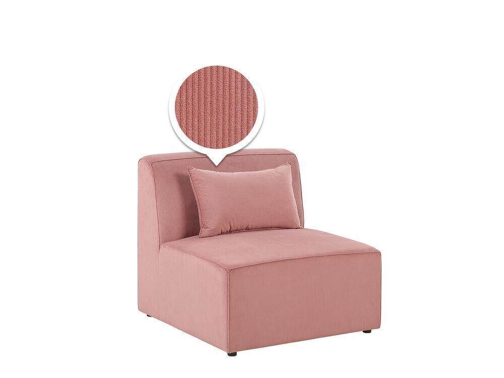 Modul rohové sedací soupravy - LEMMIS (růžová)