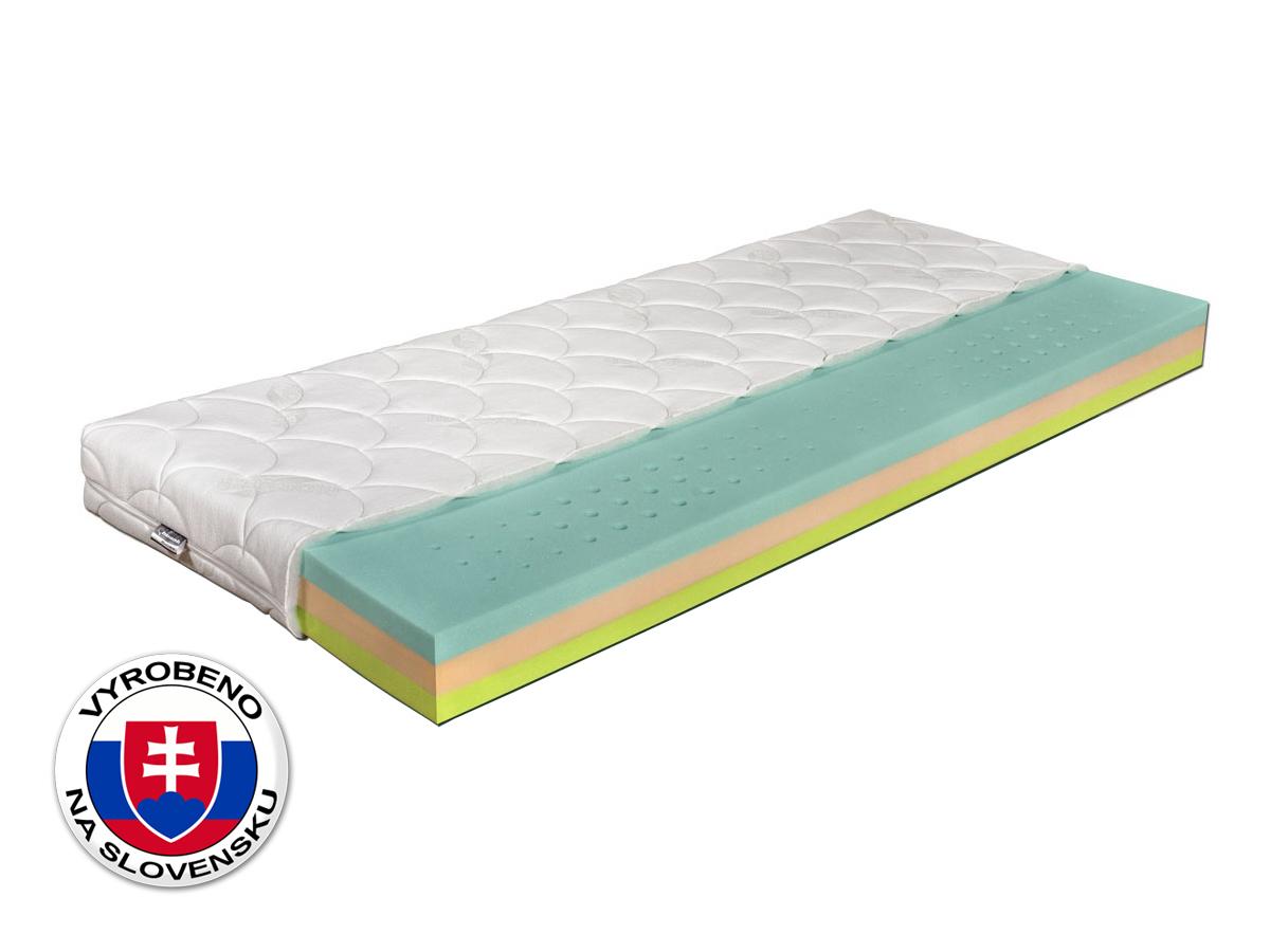 Pěnová matrace - Benab - Flora Bio - 200x90 cm (T3/T4). Oblíbená, vzdušná, zdravotní sendvičová matrace s obsahem naturální BIO pěny a kombinací FLEX - PUR a HR studenou pěnou, pro maximální ortopedické účinky a pohodlí.