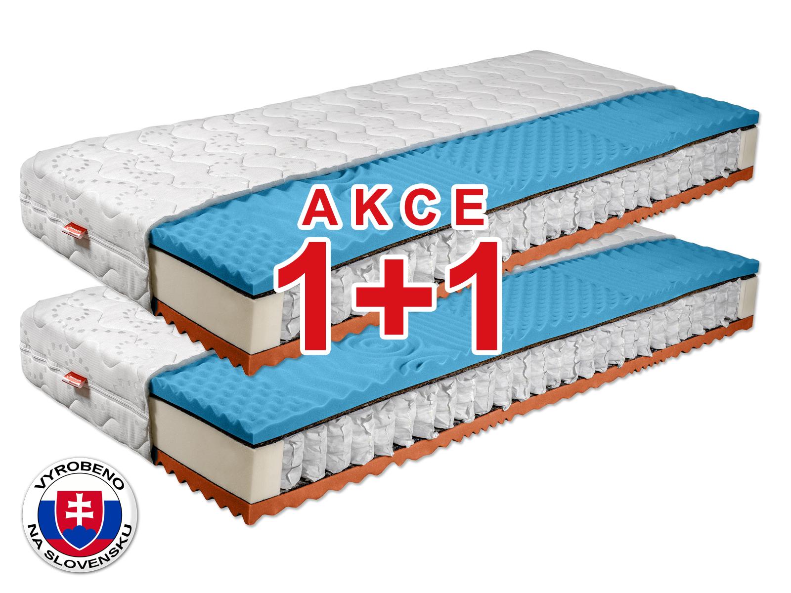 Taštičková matrace - Benab - Fyzio Plus 2.0 - 200x90 cm (T3/T4) *AKCE 1+1. Akce 1+1: certifikovaná ortopedická a antialergický oboustranná matrace pro maximální pohodlí, s masážními nopky a přírodním kokosovým vláknem.