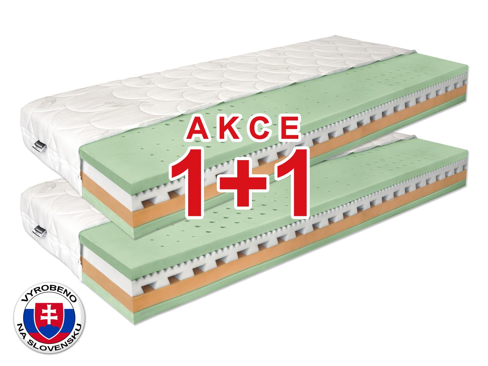 Pěnová matrace - Benab - Omega Flex Duo - 200x70 cm (T3/T4) *AKCE 1+1. Akce (1+1): populární a pohodlná oboustranná matrace se snímatelným potahem, z naturální BIO pěny se 7-zónovým odvětrávacím systémem vyrobený na Slovensku