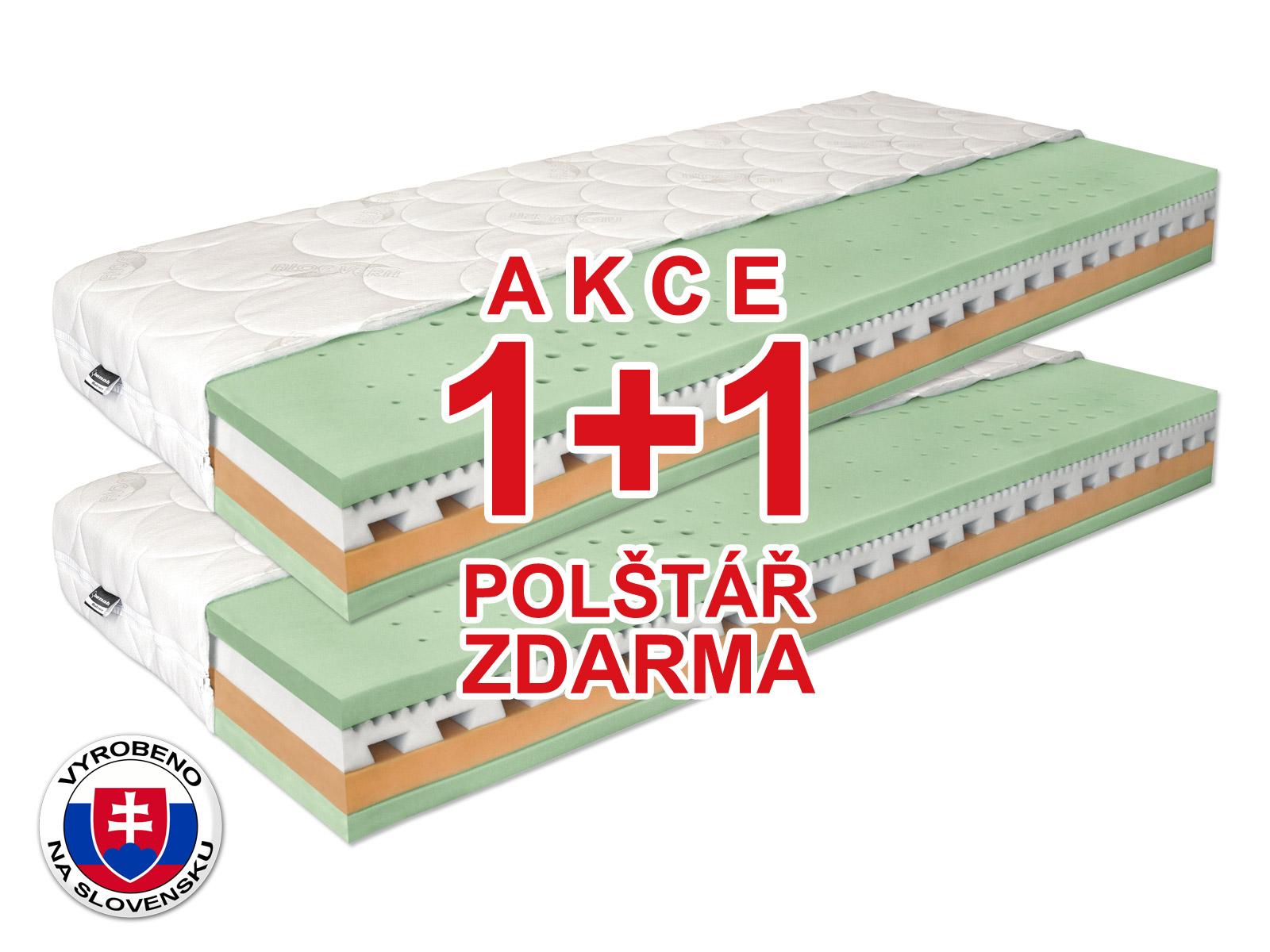 Pěnová matrace - Benab - Omega Flex Duo - 200x80 cm (T3/T4) *AKCE 1+1. Akce (1+1): populární a pohodlná oboustranná matrace se snímatelným potahem, z naturální BIO pěny se 7-zónovým odvětrávacím systémem vyrobený na Slovensku