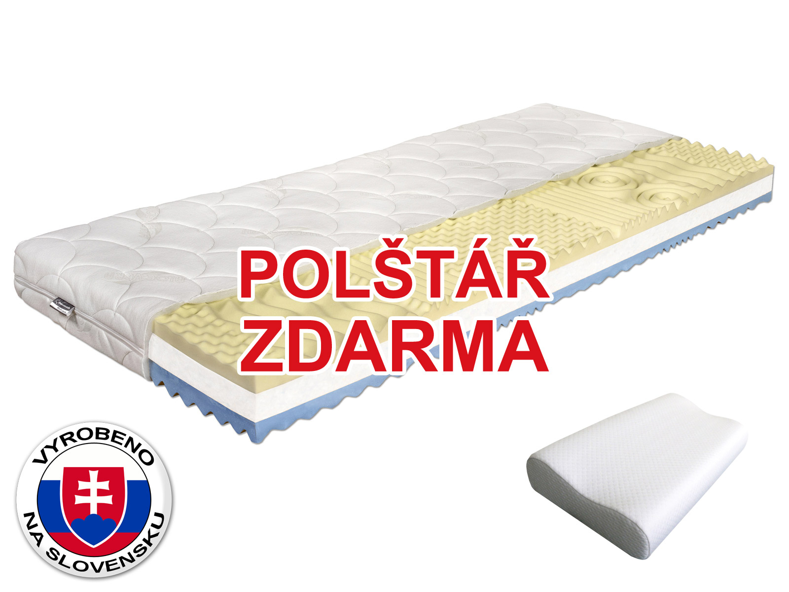 Pěnová matrace - Benab - Visco Plus - 200x80 cm (T3/T4) *polštář zdarma