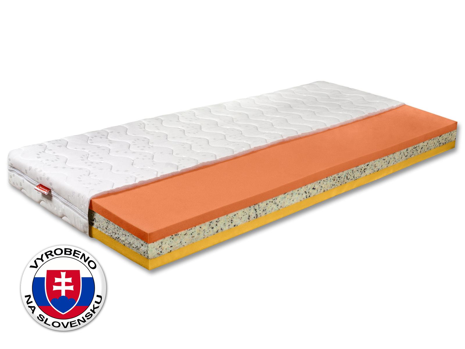 Pěnová matrace - Benab - Hard Plus - 200x80 cm (T3/T4). Oblíbená, vzdušná, zdravotní sendvičová matrace se zvýšenou nosností a obsahem vysoce kvalitní HR studené pěny, pro maximální ortopedické účinky a pohodlí.
