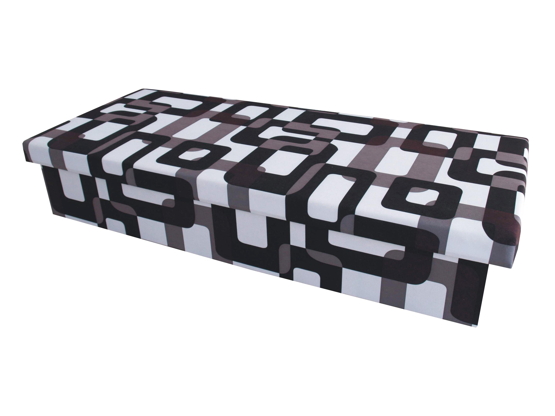 Jednolůžková postel (válenda) 80 cm - Benab - Solo černobílá (s matrací)