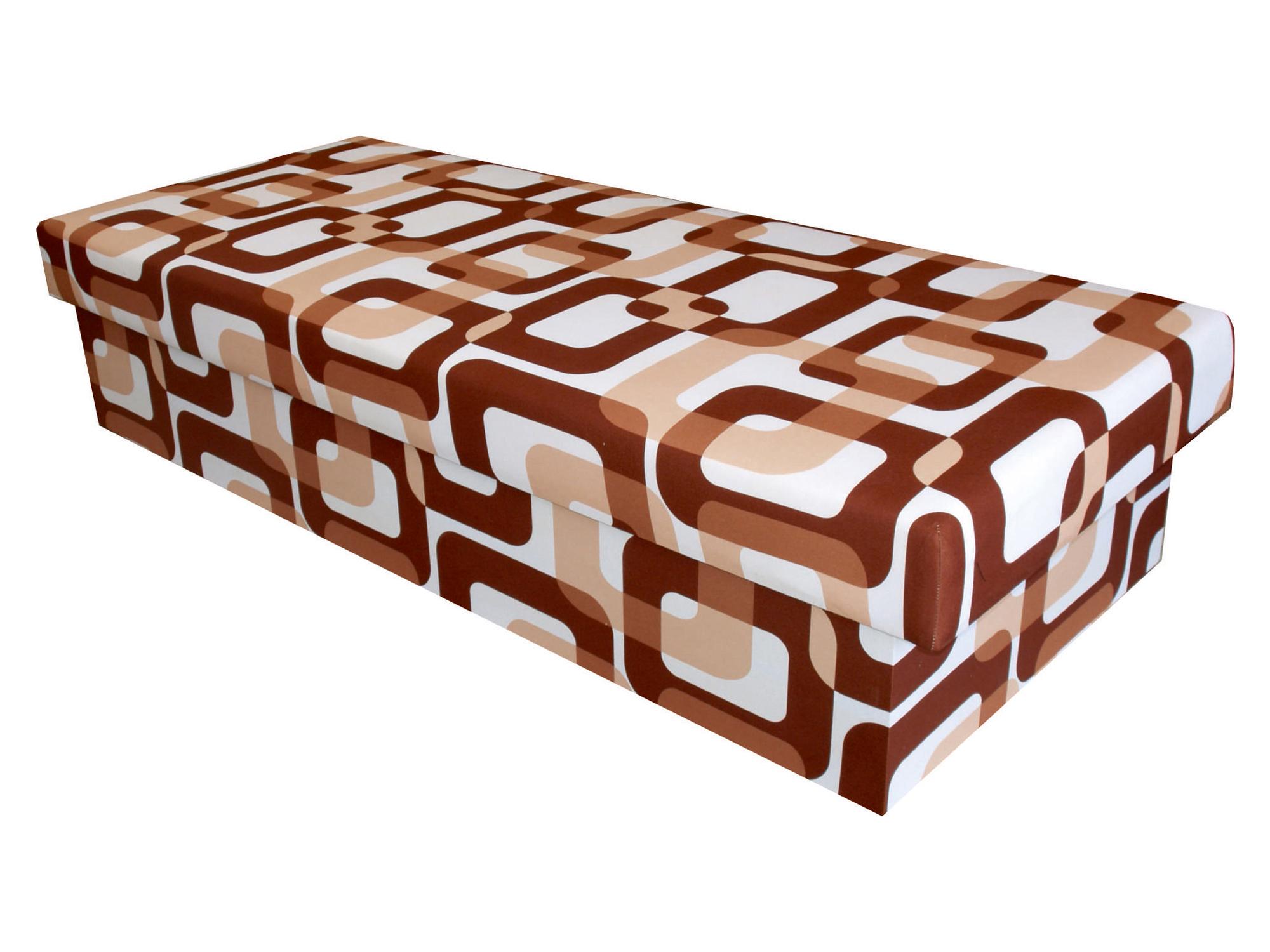 Jednolůžková postel (válenda) 80 cm - Benab - Solo hnědá (s matrací)