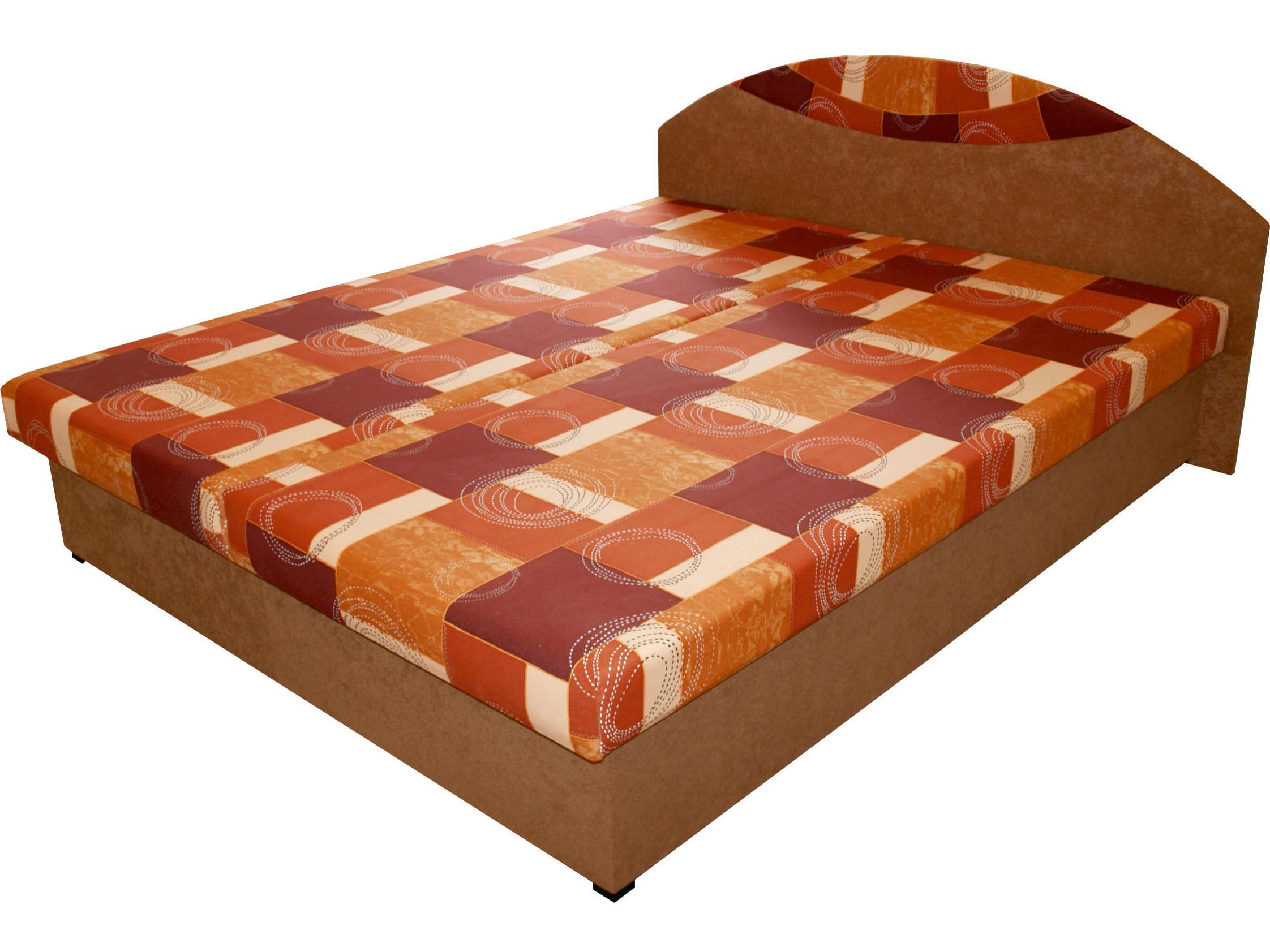 Manželská postel 160 cm - Benab - Dara (s rošty a matracemi)