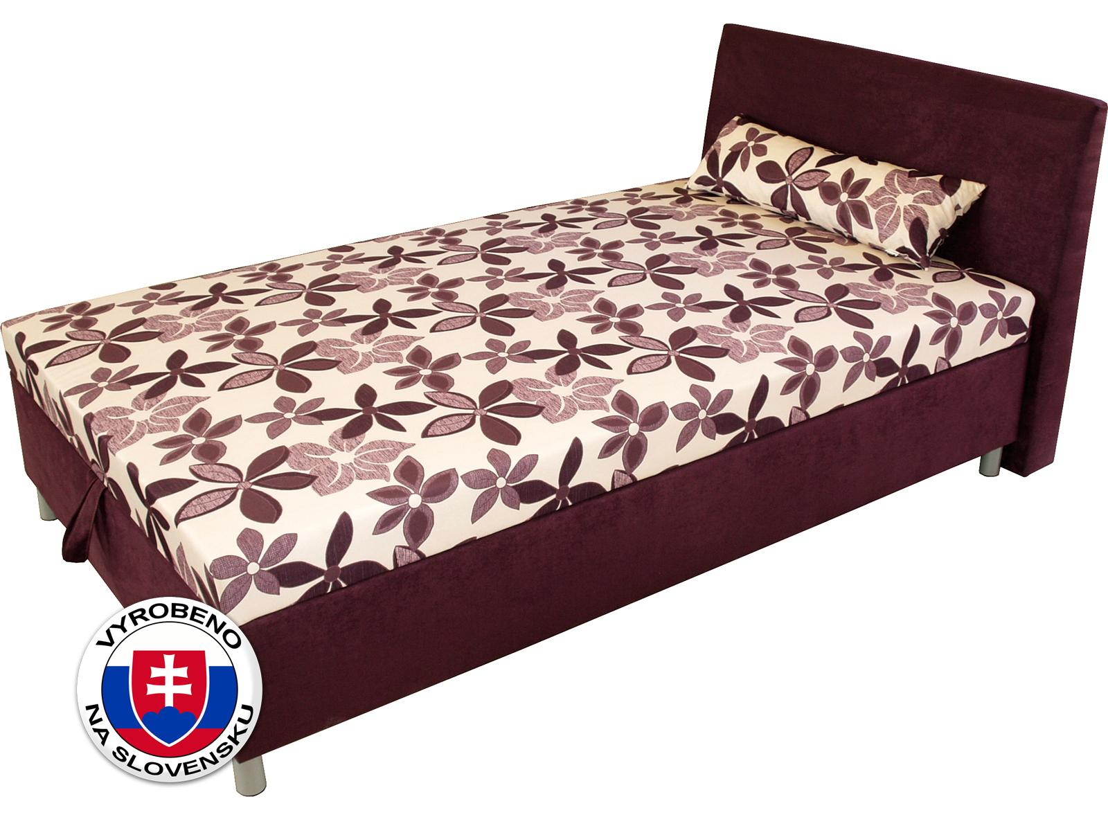 Jednolůžková postel (válenda) 100 cm - Benab - Elson komfort (s roštem, matracem a snímatelný polštářem)
