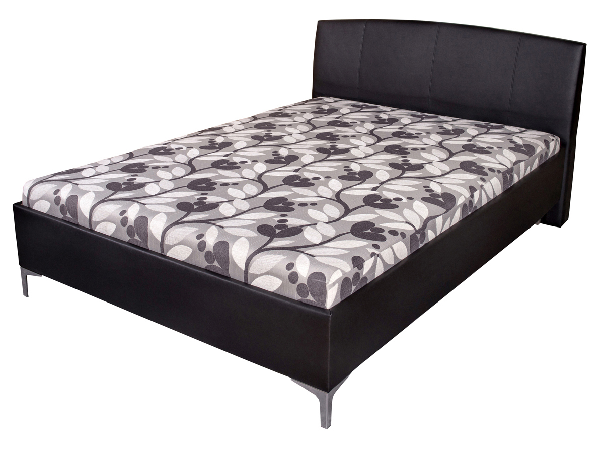 Manželská postel 140 cm - Benab - Elson Lux (s rošty a matracemi)