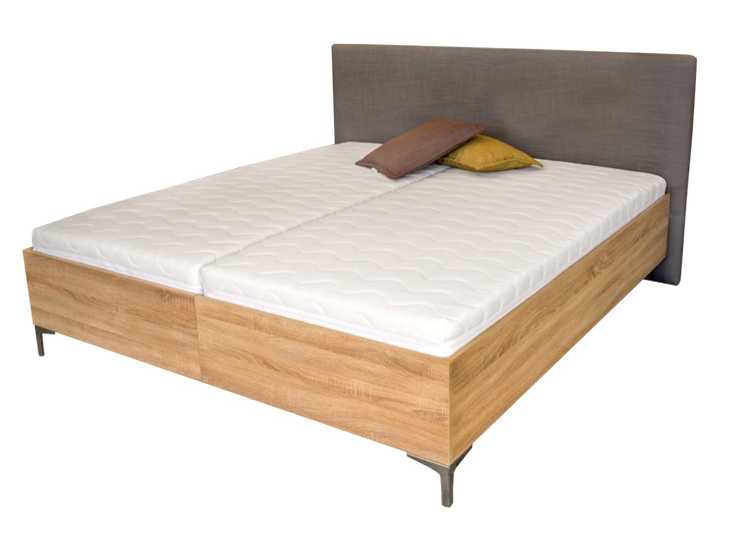 Manželská postel 180 cm - Benab - Ferrera Wood (s rošty)