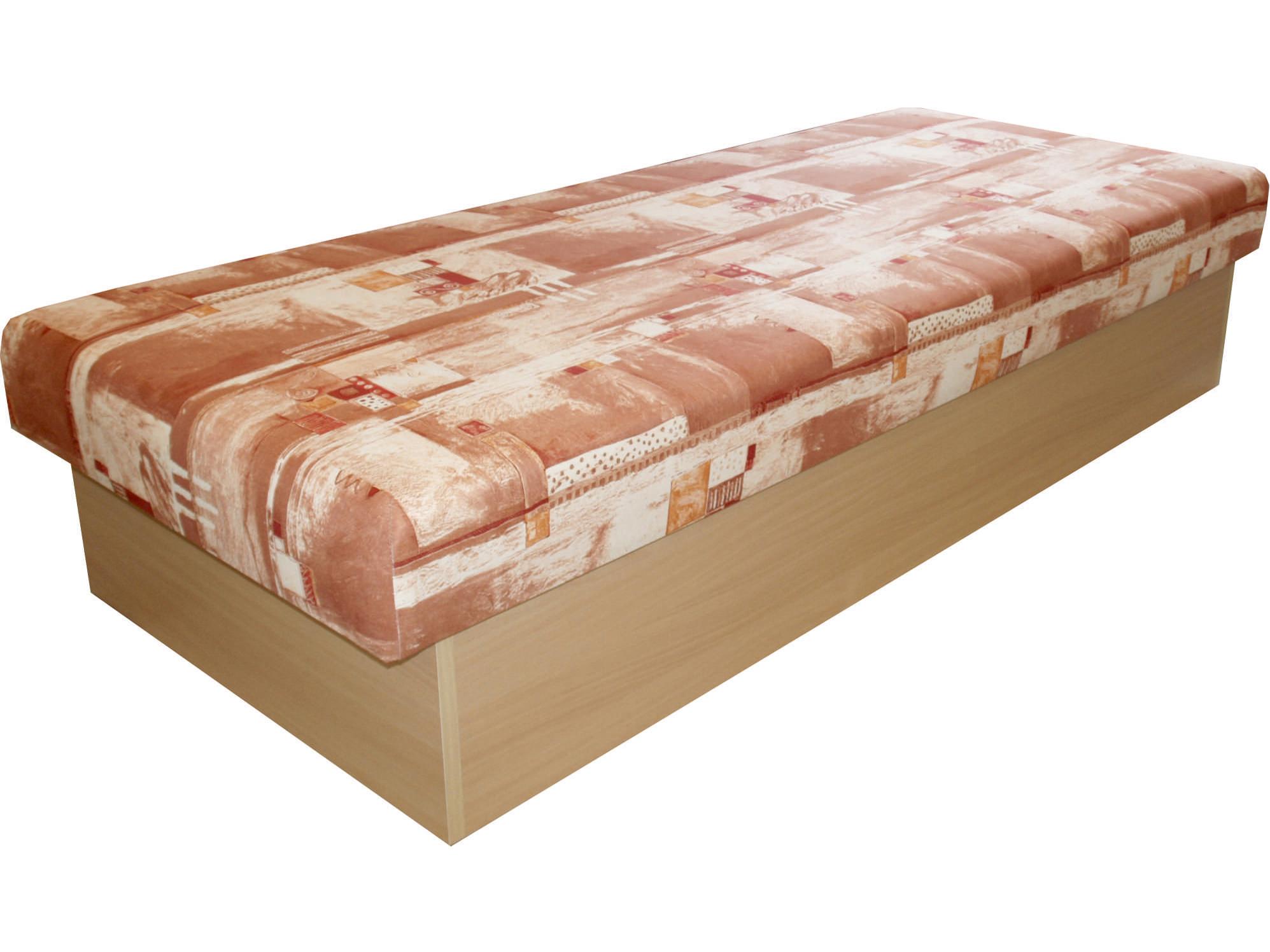 Jednolůžková postel (válenda) 80 cm - Benab - Roger (racek hnědý) (s matrací)