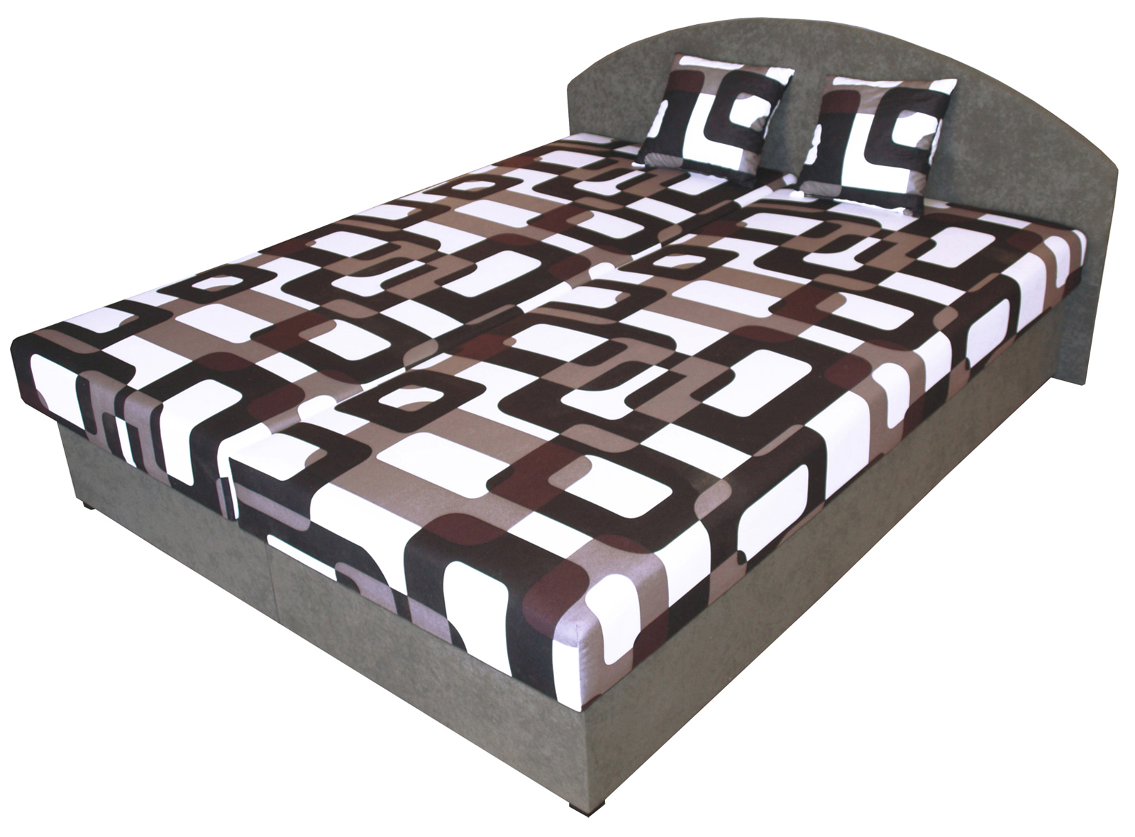 Manželská postel 160 cm - Benab - Sara (s rošty a matracemi)