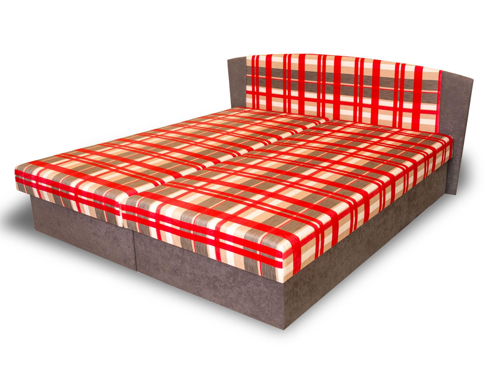 Manželská postel 160 cm - Benab - Laura (s rošty a matracemi)