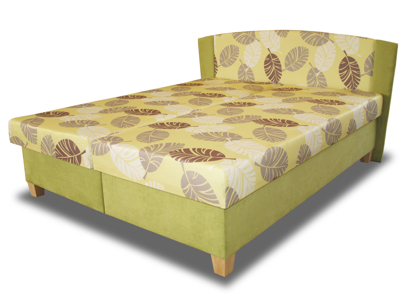 Manželská postel 160 cm - Benab - Elize (s rošty a matracemi)