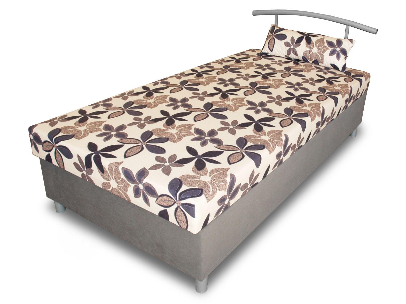 Jednolůžková postel (válenda) 100 cm - Benab - Elson 100 (s roštem, matracem a snímatelný polštářem)