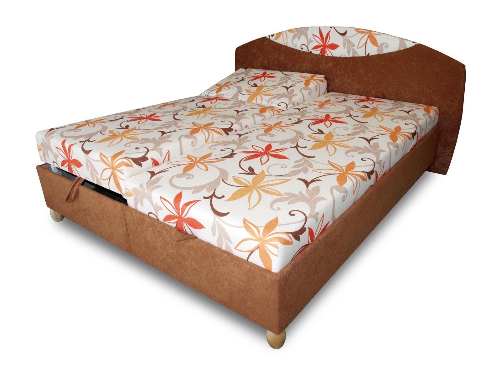 Manželská postel 160 cm - Benab - Famoza (s rošty a matracemi)