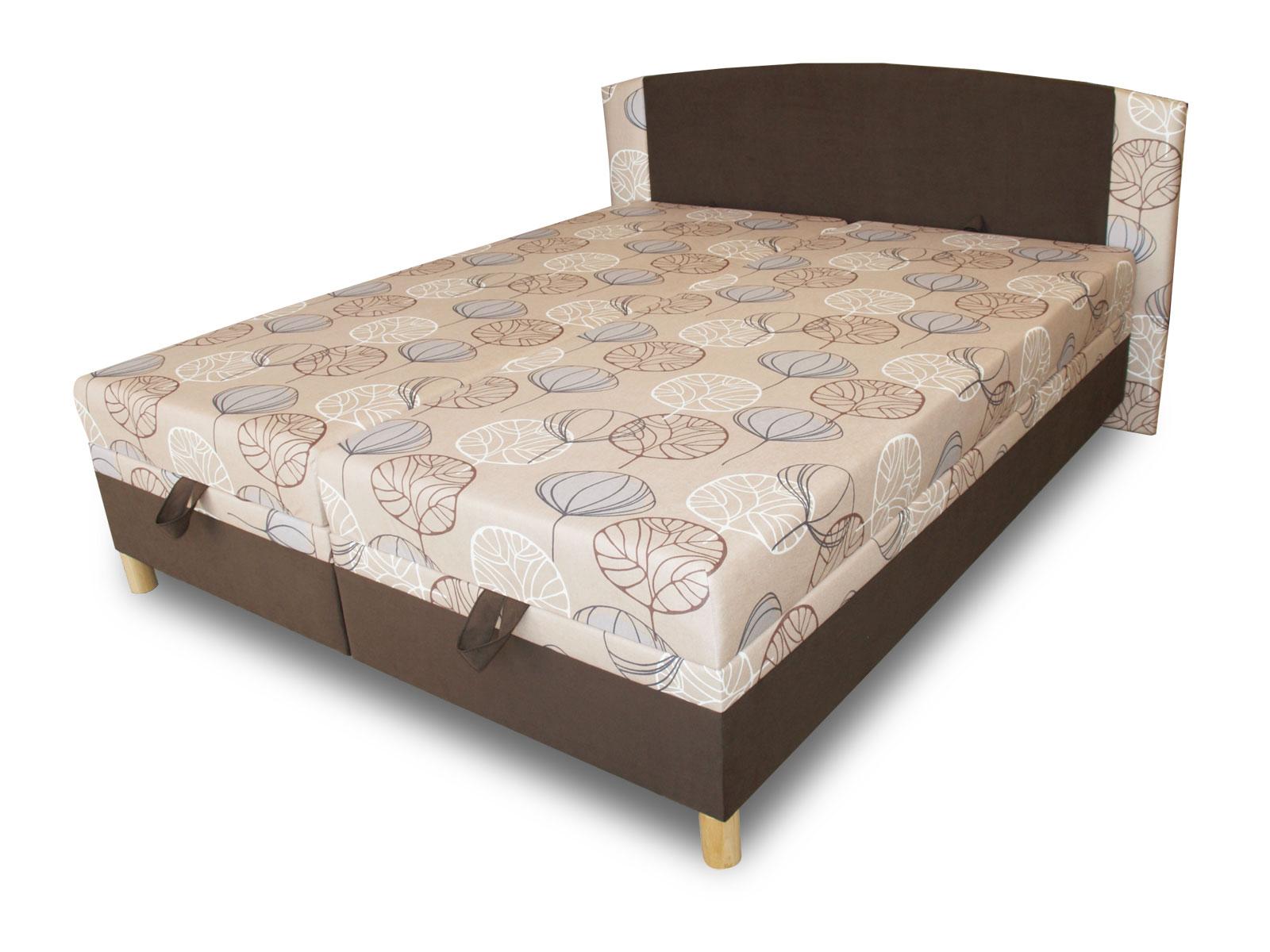 Manželská postel 170 cm - Benab - Luka (s rošty a matracemi)