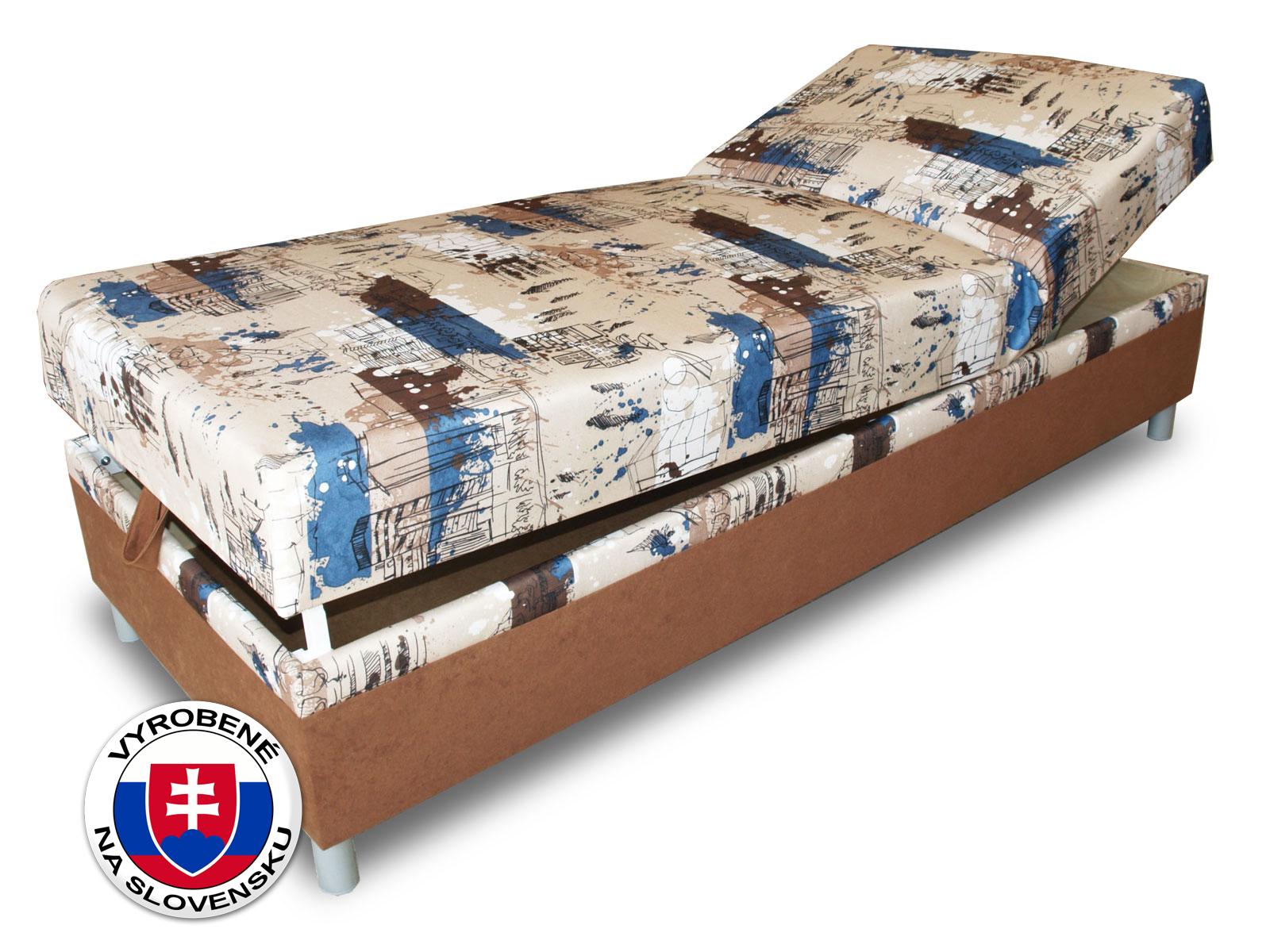 Jednolůžková postel (válenda) 80 cm - Benab - Rafael Steel (s roštem a matrací)