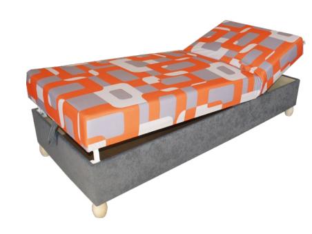 Jednolůžková postel (válenda) 80 cm - Benab - Relax solo (s roštem a matracem)