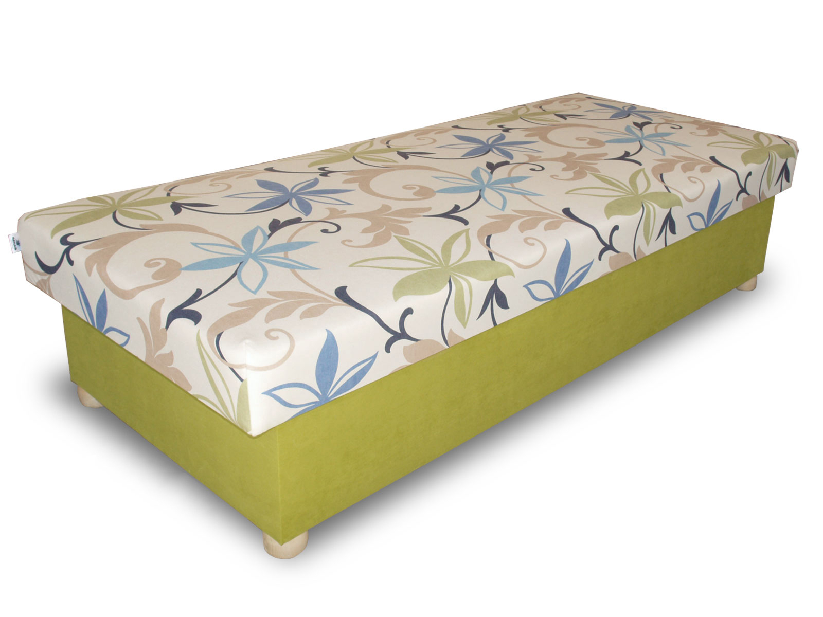 Jednolůžková postel (válenda) 80 cm - Benab - Solo na masivních nožkách (s matrací)