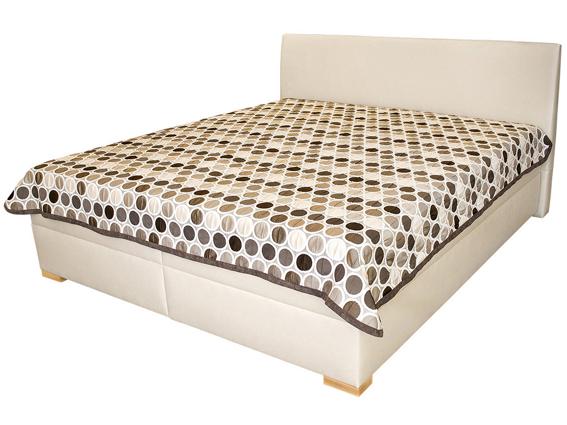 Manželská postel 180 cm - Benab - Toscana (s rošty, matracemi VISCO PLUS a přehozem)