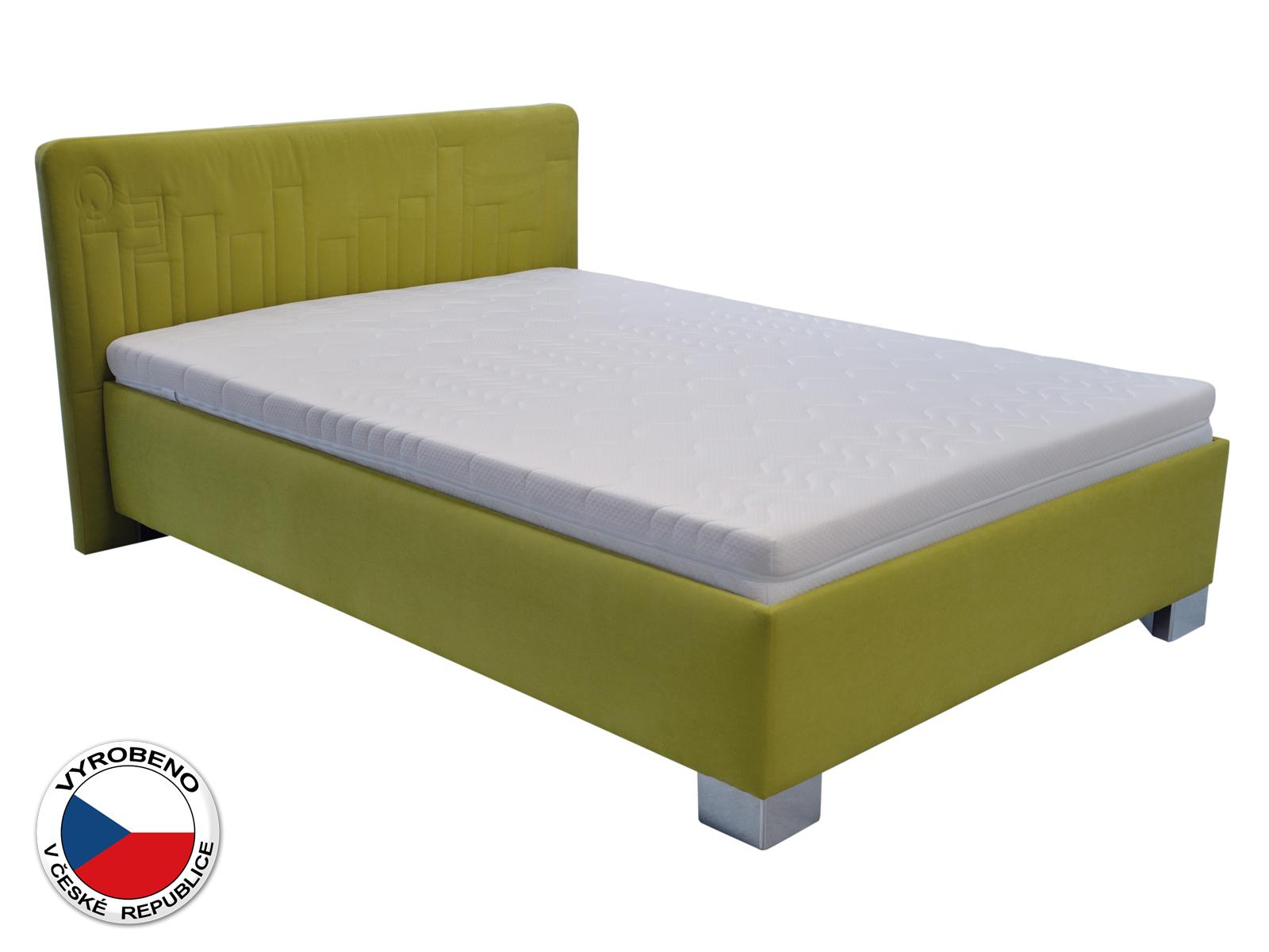 Jednolůžková postel 120 cm - Blanár - Dona (zelená) (s roštem)