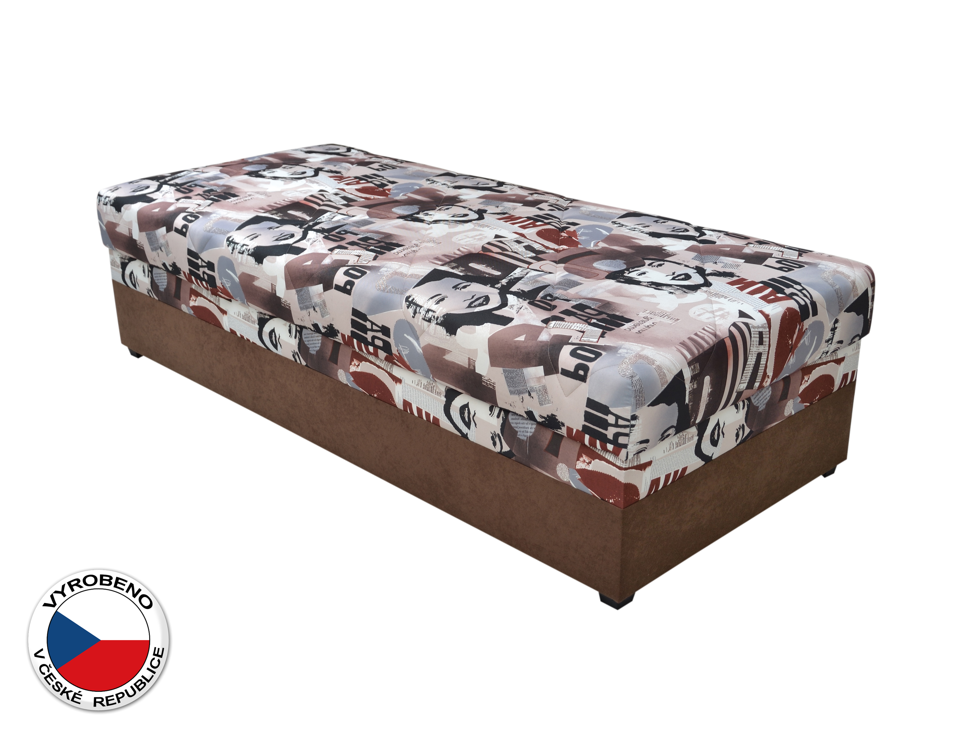 Jednolůžková postel (válenda) 90 cm - Blanár - Evelina (vzor News 08) (s roštem a matrací)