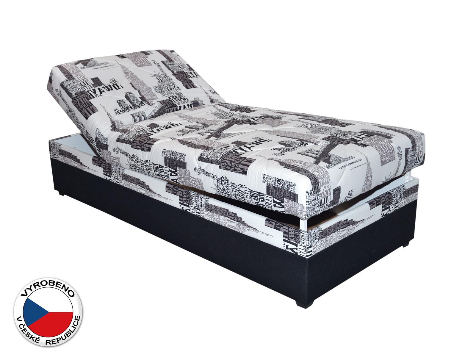 Jednolůžková postel (válenda) 90 cm - Blanár - Evelina (vzor NYC B 05) (s roštem a matrací)