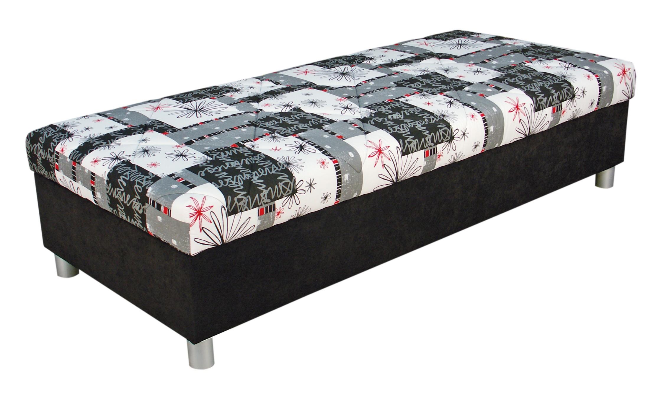 Jednolůžková postel (válenda) 90 cm - Blanář - Inez (šedá) (s roštem a matrací)