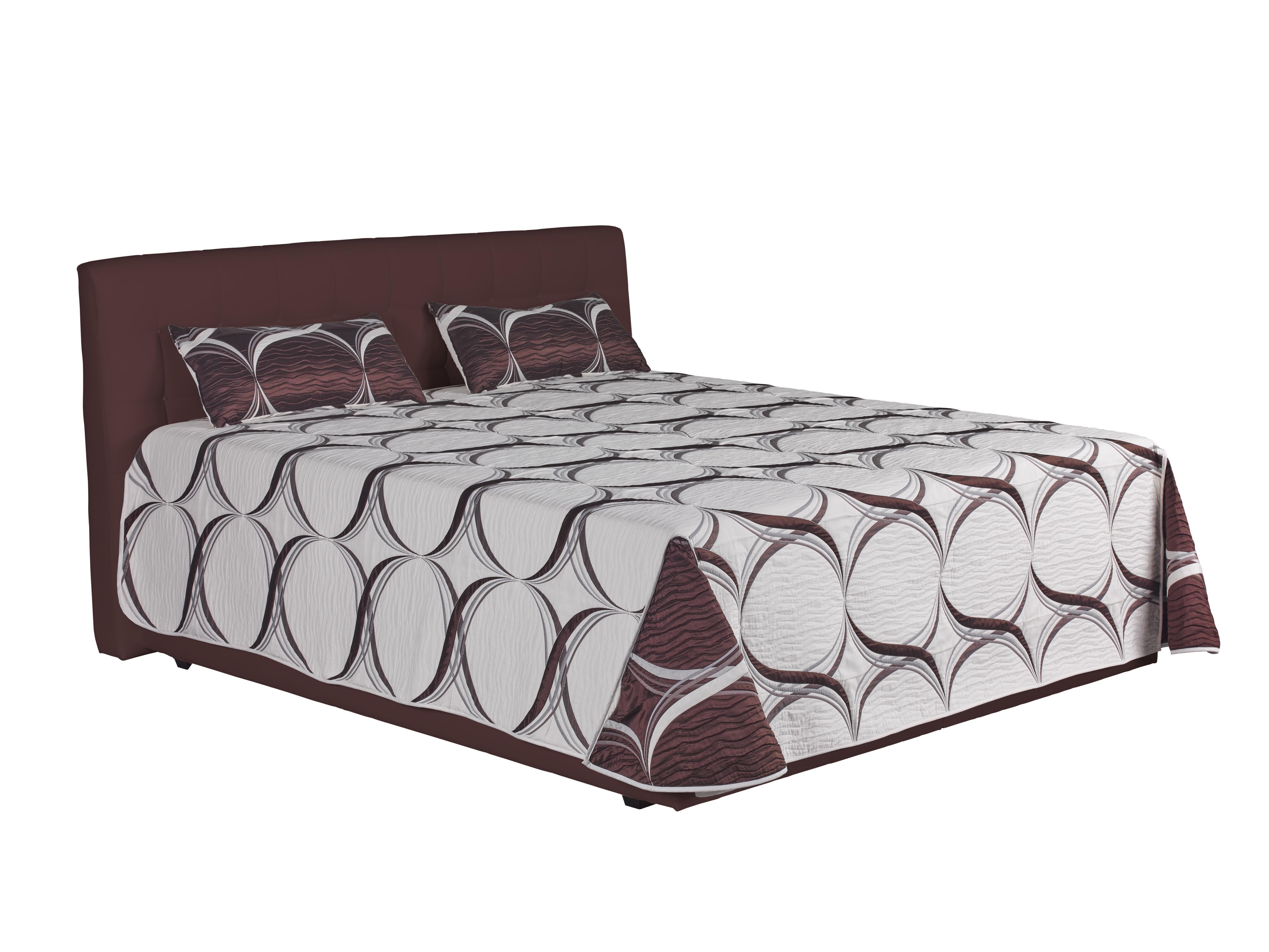 Manželská postel 160 cm - Blanár - Monaco (hnědá) (s roštem a matrací Nelly Plus)