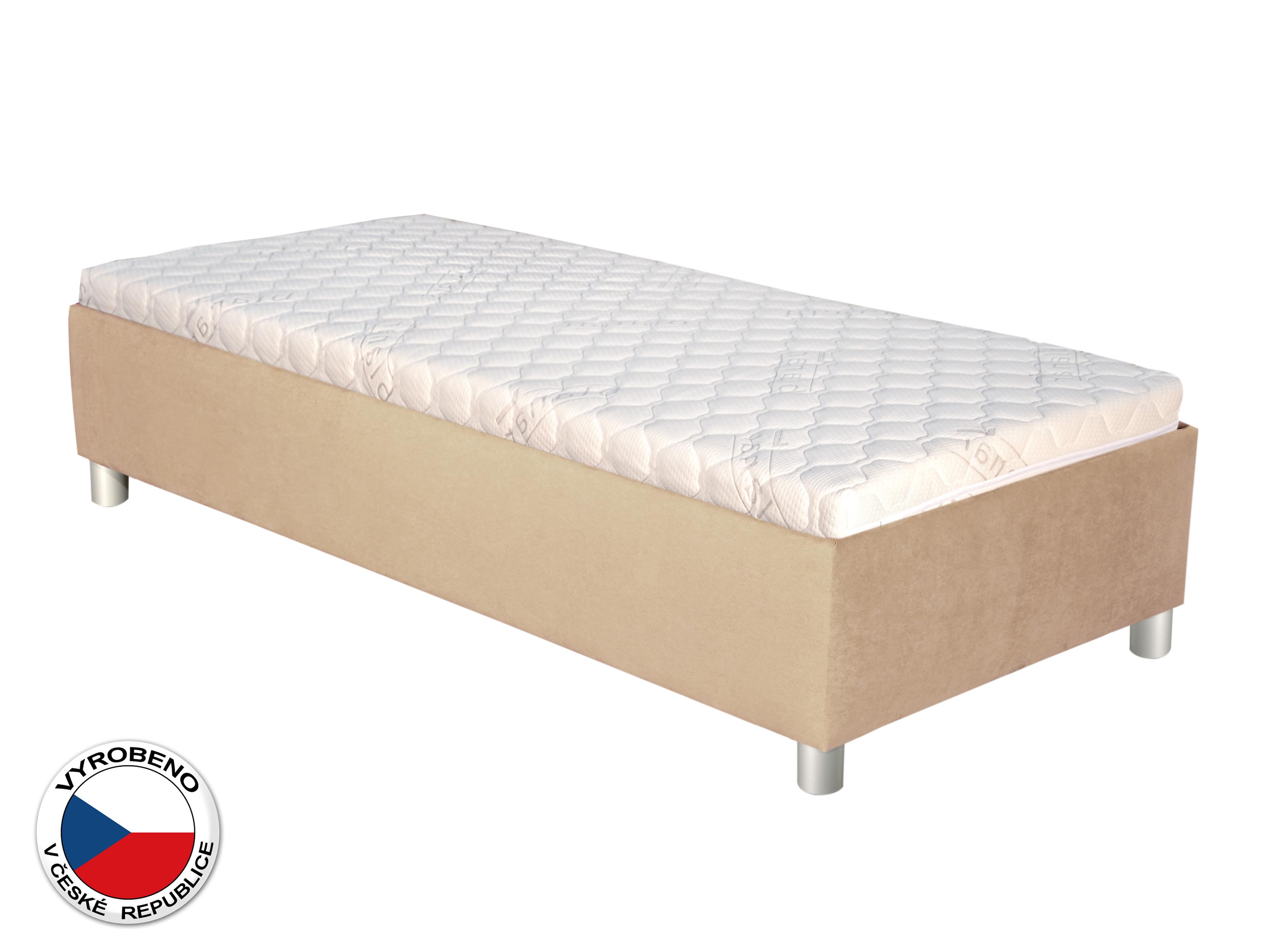 Jednolůžková postel 90 cm - Blanár - Neptun (béžová) (s roštem a matrací)