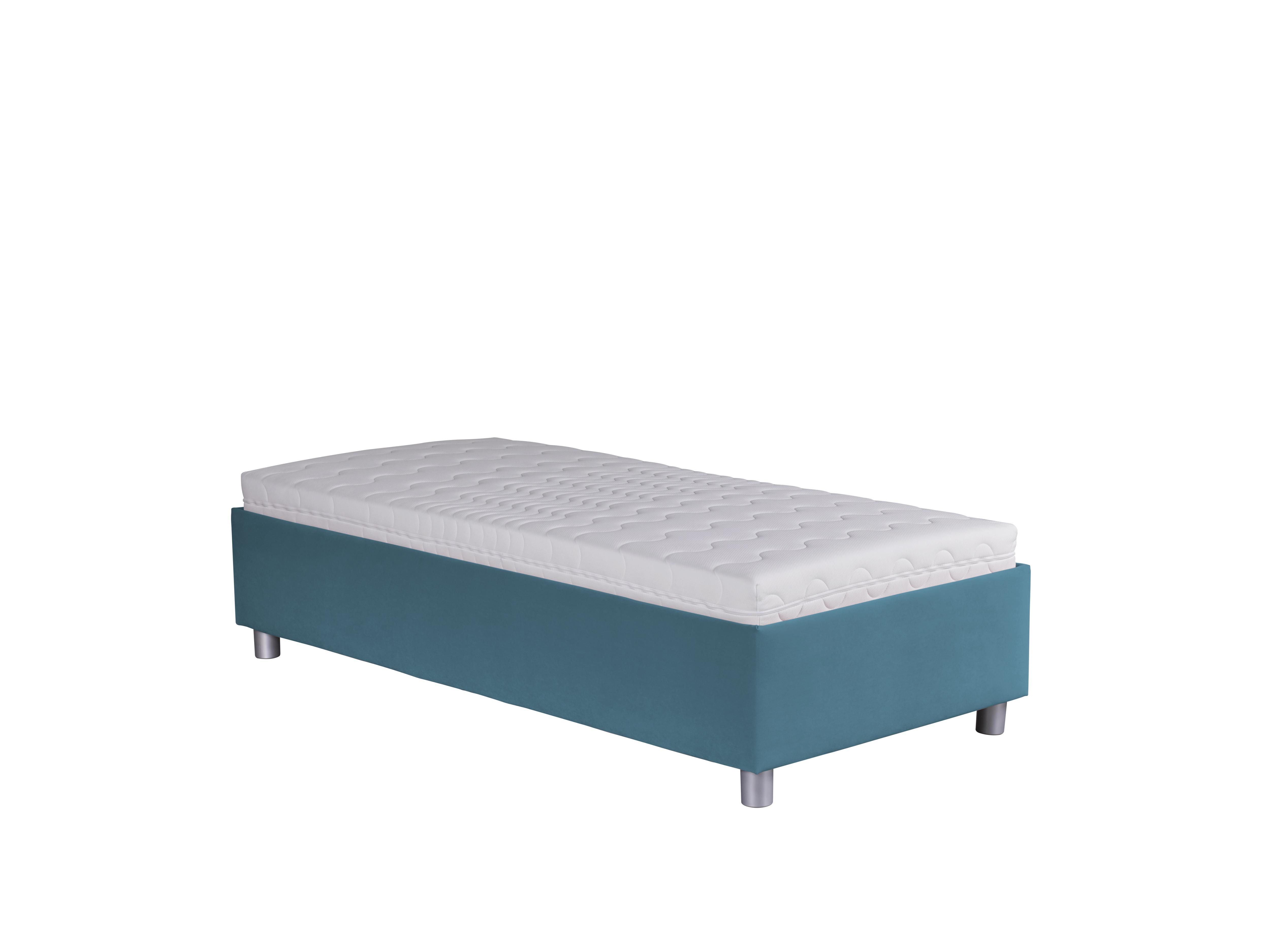 Jednolůžková postel 90 cm - Blanár - Neptun (modrá) (s roštem a matrací Nelly)