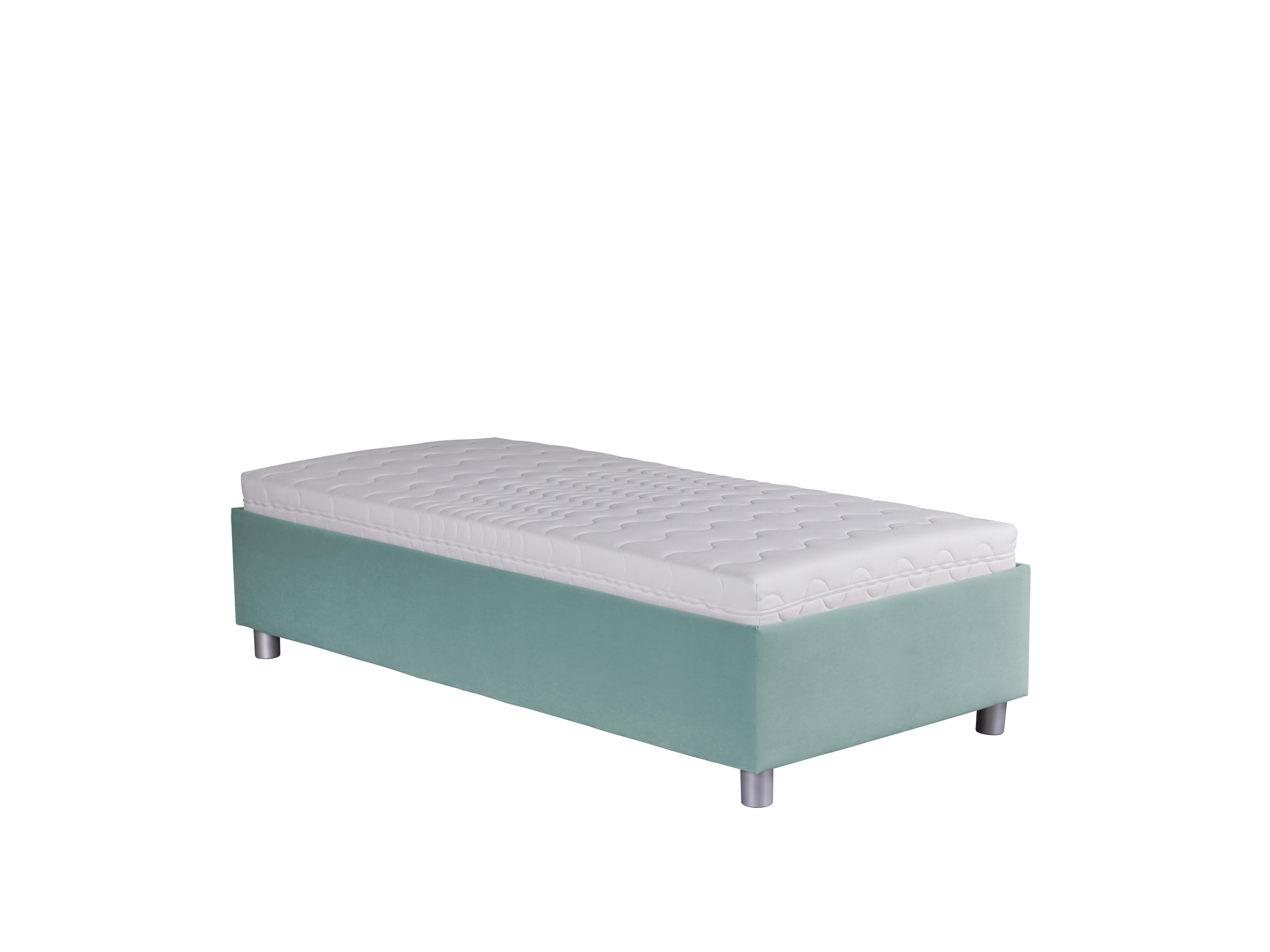 Jednolůžková postel 90 cm - Blanár - Neptun (tyrkysová) (s roštem a matrací Nelly)