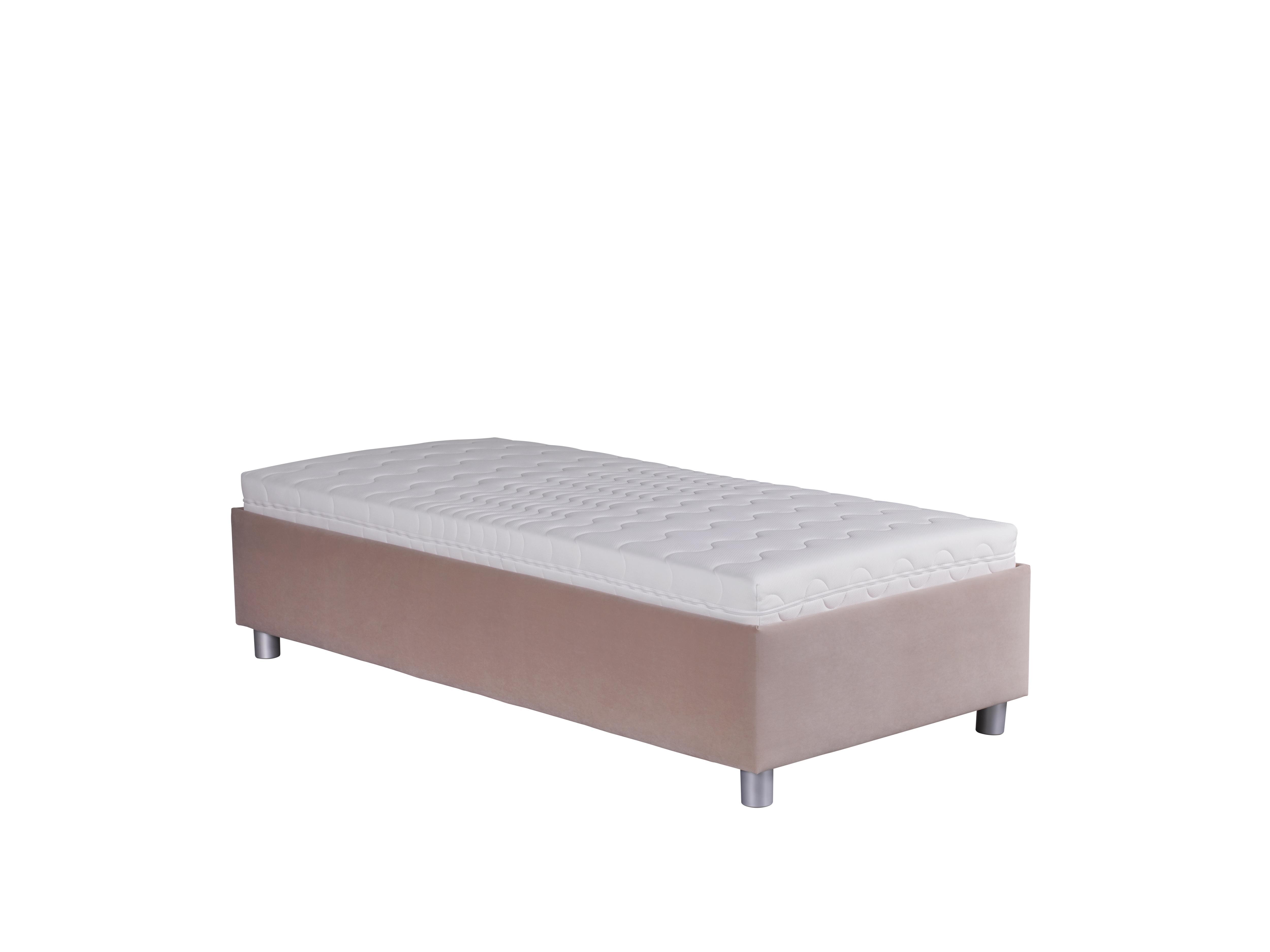 Jednolůžková postel 90 cm - Blanár - Neptun (světle hnědá) (s roštem a matrací Nelly)