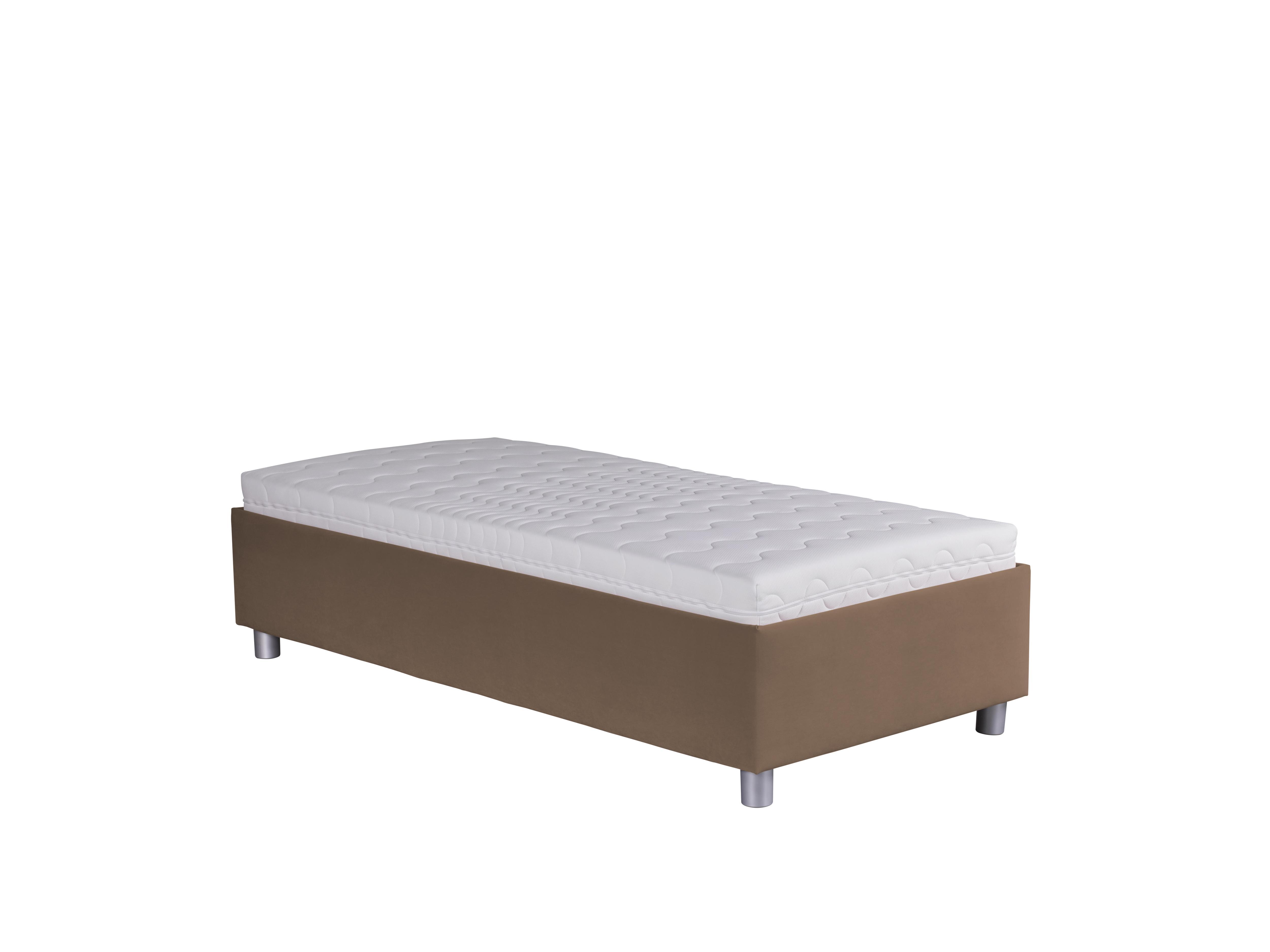 Jednolůžková postel 90 cm - Blanár - Neptun (hnědá) (s roštem a matrací Nelly)