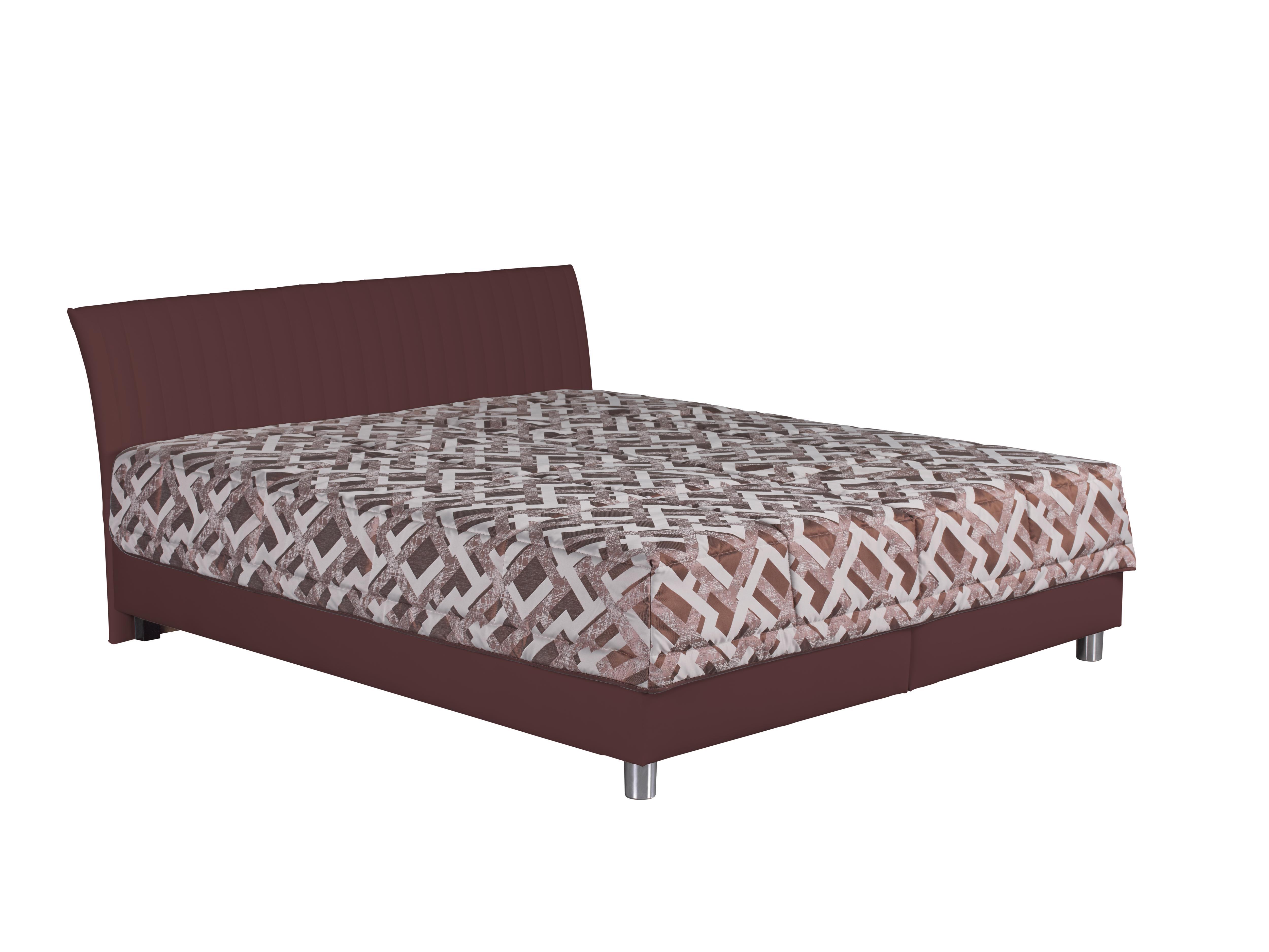 Manželská postel 160 cm - Blanár - Vinco (hnědá + vzor Gary 7) (s roštem a matrací Nelly)