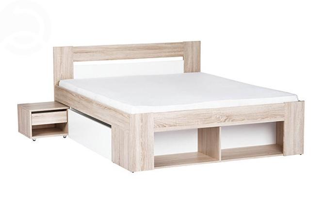 Manželská postel 140 cm - Casarredo - Milo (se zásuvkami a noč. stolky)