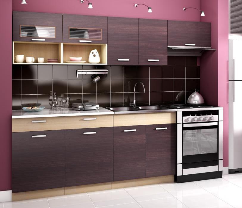 Kuchyně - Casarredo - Moreno II 240 cm (kaštan)