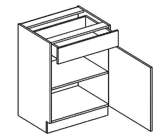 Spodní kuchyňská skříňka - Casarredo - Moreno - D60 1 zásuvka