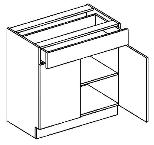 Spodní kuchyňská skříňka - Casarredo - Moreno - D80 1 zásuvka