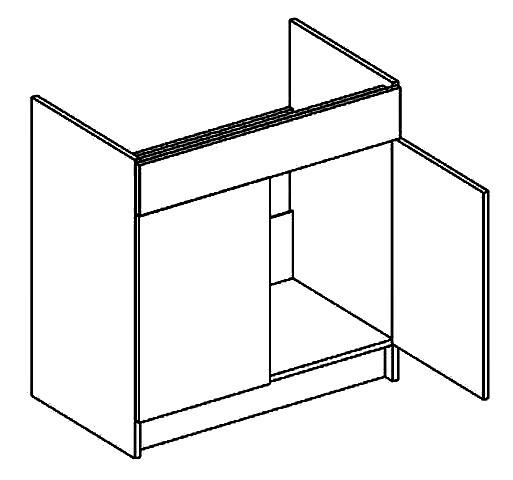 Spodní kuchyňská skříňka - Casarredo - Moreno - D80 pod dřez