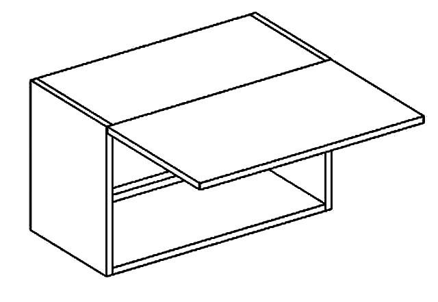 Horní kuchyňská skříňka - Casarredo - Moreno - W60 nad digestoř
